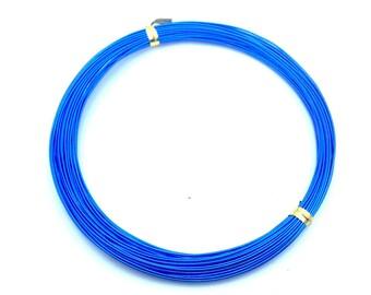 x10m aluminum diameter 0.8 mm electric blue wire: FA0005