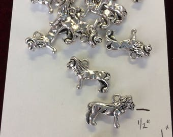 "12 Lion charms - Wholesale lot, pewter 1"" long   lot4"