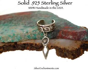 Celtic Goddess Ear Cuff in Solid Sterling Silver, Sterling Goddess Earcuff, Solid Sterling .925 Silver Lunar Goddess Jewelry - GSP413