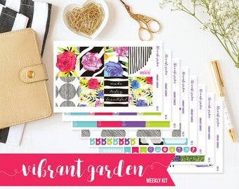 Floral Planner Stickers, Erin Condren Planner Stickers, Weekly Kit, Weekly Planner Stickers, Sticker Kit, Life Planner Stickers, ECLP