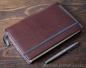 Leuchtturm 1917 Medium (A5) Hardcover Notebook cover - brown bridle leather