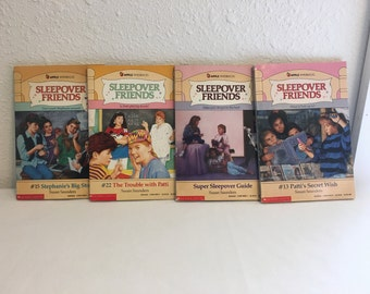 Vintage Books, Sleepover Friends, Young Girl Reader Books, Susan Saunders, Book Lot