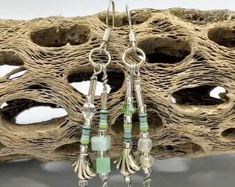 Seafoam green resistor earrings
