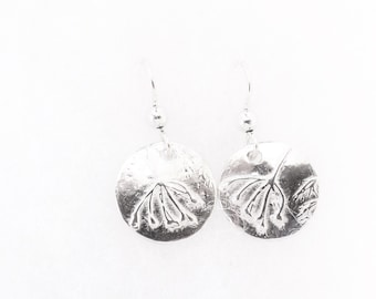 Sterling dill blossom earrings, botanical replica, herb jewelry, floral accessory