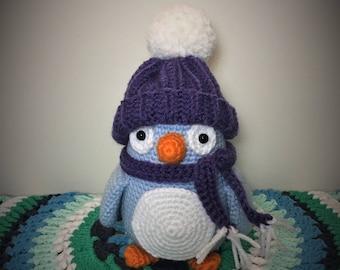 Crochet penguin amigurumi toy