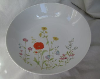 Vintage Floral Serving Bowl, English Garden from Wilshire House, Japan