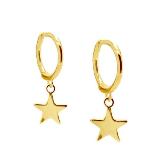 Silver Star and ring earrings N5