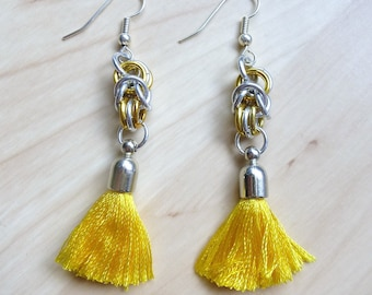 Tassel, Chainmaille Earrings