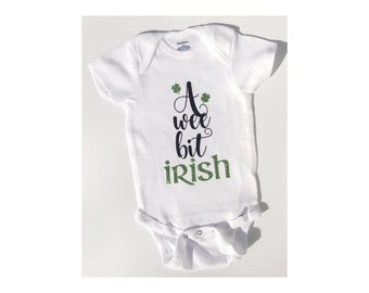 A Wee Bit Irish St Patty's Day Baby Toddler Top