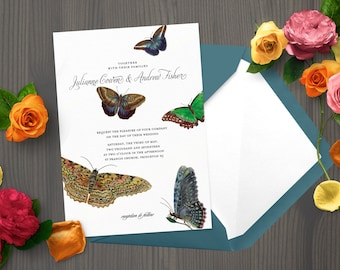 PRINTABLE Butterfly Wedding Invitation Set