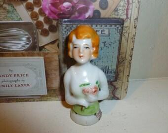 Vintage Half Doll Pin Cushion Doll
