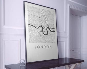 London Map Art. Any Location. Personalised Map Art. Modern Design. City Map Art. Mounted Canvas Available