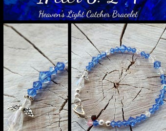 Personalized Sapphire Crystal Light Catcher 1Peter 5:2-4  Bracelet