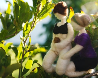 Needle Felted Midwife/Birthing Figure You pick details