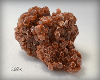 Orange/Red Glassy Aragonite Crystal Ball with Many TINY Columnar Crystals -  Miniature Mineral Collectible