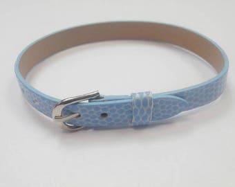 1 leather 22 cm colour light blue bracelet