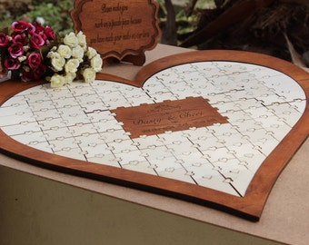 Wedding guest book, Wedding guest book alternative, Wedding guest book puzzle, Guest book wedding, Guest book alternative