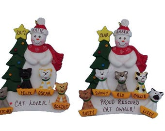 Personalized Cat Lover Ornament - Rescued Cat Owner Personalized Christmas Ornament - Gift for a Cat Owner