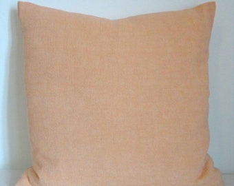 """18x18"""" ITALIAN WASHED LINEN Pink Decorative Accent Pillow Cover, Square"""