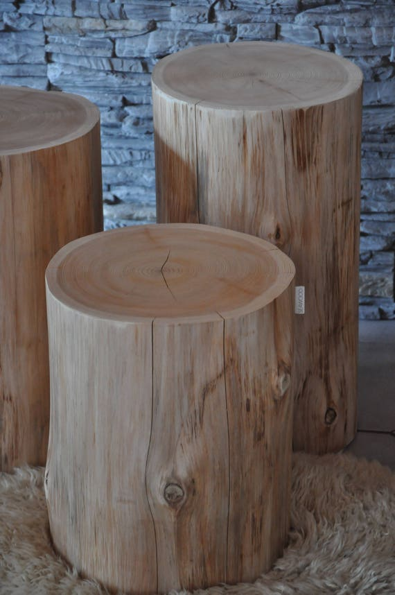 Raw Wood, NORMA Natural Tree Trunk Table, Side Table End Table, Stool, Log, Tree  Stump Table, Low Table, Coffee Table