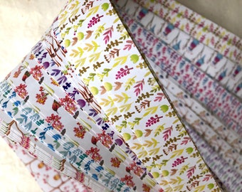 Sale* Spring Birds Branches Flowers~ Weaving Star Paper (52 strips)