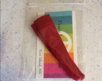 Deep Red Blythe Over the Knee Socks