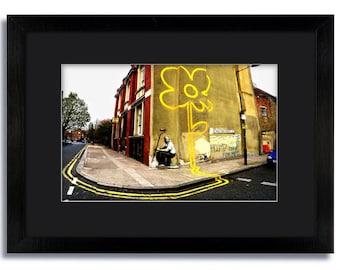 Banksy Pollard Street Colour Mounted & Framed Print