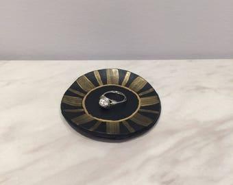 Black & Gold Trinket Dish