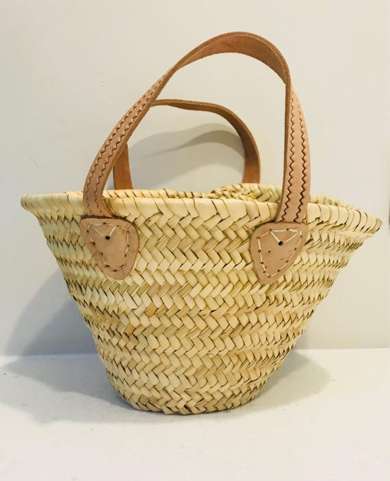 Toddler   Mini Plain French Style Basket by Etsy