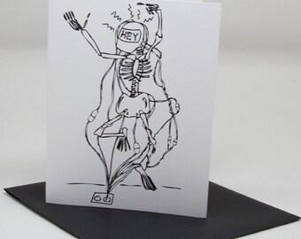 Hey Skeleton Card