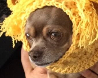 Lion Dog Snood Crochet Pattern