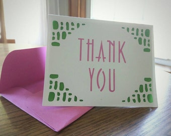 Watermelon, Kate Spade, Lilly Pulitzer Thank You Card