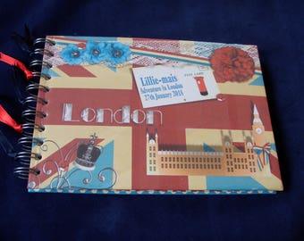 "Personalised London Travel Photo Album A5/A4/8"" x 8"", Holiday Photo Album, Memory Book, Scrapbook Album"