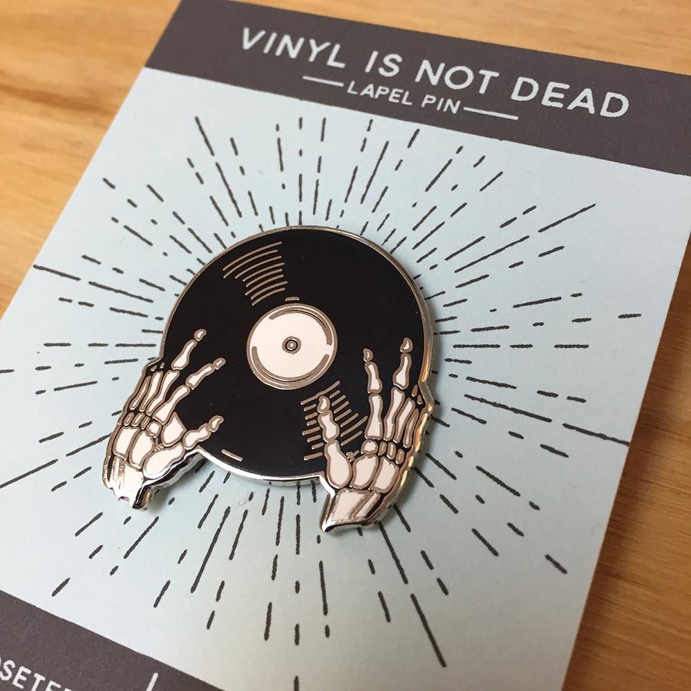 Vinyl is not Dead Pin Cloisonné Enamel Pin