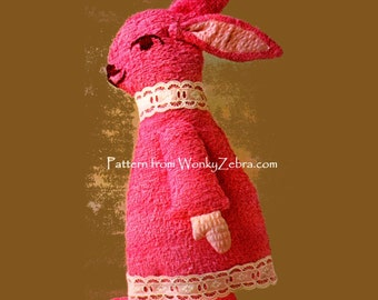 Bunny Rabbit Sewing Pattern 504 from ToyPatternLand by WonkyZebra