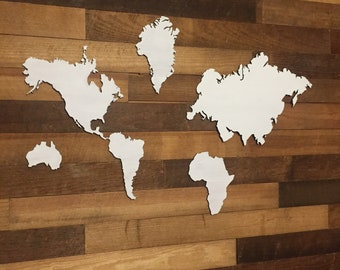World wooden cut outs