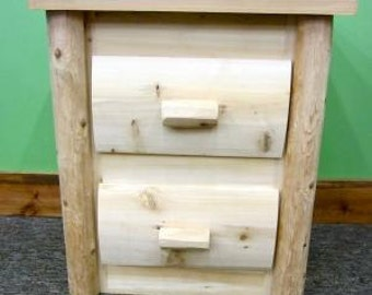 Handcrafted Log Dresser 2 Drawers