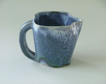 Frosty Denim Blue Square Pitcher