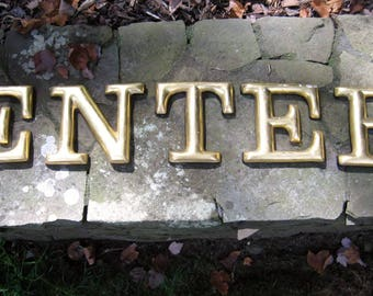 Enter Sign Letters - Gold Enter Sign Letters - Vintage Gold Enter Sign Letters
