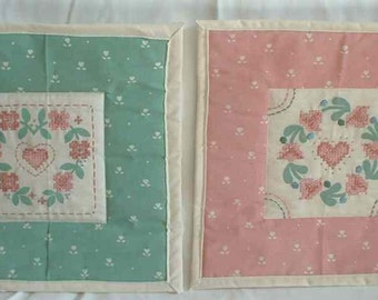 Hearts & Flowers Quilted Wall Hangings