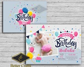 Birthday Invitation Digital File