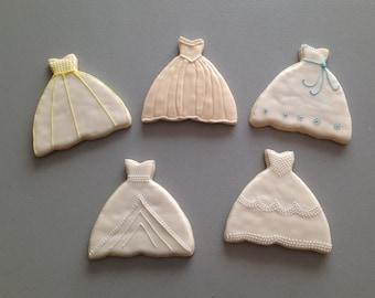 Wedding Dress Sugar Cookies