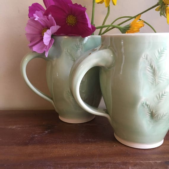 Fern Mug, Handmade Coffee Mug, Tea Mug,