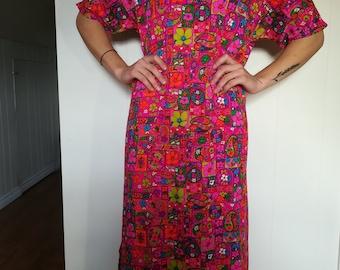 Vintage Bohemian Hippy Dress