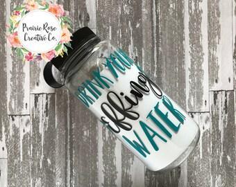 Drink Your Effing Water 30 oz bottle, Water Intake Tracker, Sports Bottle