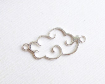 Sterling Silver Cloud Connector -- 1 Piece -- Larger Version  Link HBFO6ES