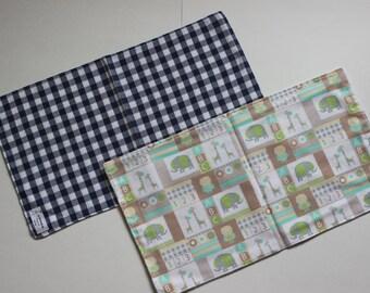 burp clothes cotton flannel 2 pack