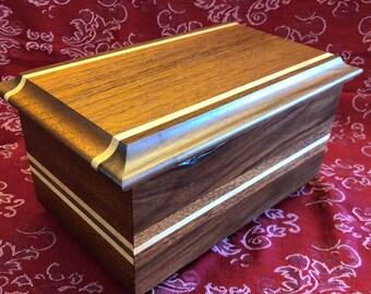 Small Wood Jewelry Box - Trinket Box, Keepsake Box
