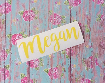 Custom name decal | FREE SHIPPING | Custom label decal | Name label | Bridesmaid decals | Vinyl decal | Word sticker