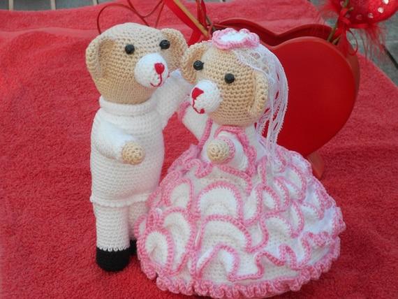 Tanz Hochzeit Bären und Tauben-häkeln Muster tanzen Hochzeit